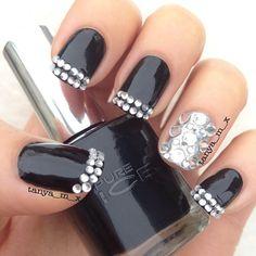 Instagram photo by tanya_m_x #nail #nails #nailart  bling!