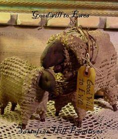 PDF E Pattern INSTANT DOWNLOAD Primitive Sheep by sassafrasprims, $6.00