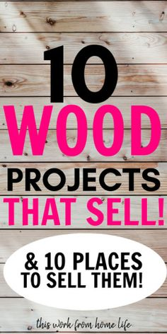 Handmade wood projects that sell well on Etsy and in craft fairs. - Handmade wood projects that sell well on Etsy and in craft fairs. If you want to start a woodworkin - Diy Craft Projects, Wood Projects That Sell, Scrap Wood Projects, Woodworking Projects That Sell, Crafts To Make And Sell, Sell Diy, Woodworking Crafts, Craft Tutorials, Woodworking Bench