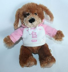 ST. LOUIS CARDINALS  Official MLB 10 Inch Plush Soft Puppy Dog Pink Hoodie #goodstuff #StLouisCardinals
