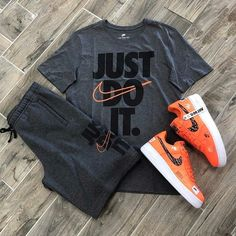Nike Sportswear (Look and 📸 : Christian H) Cute Nike Outfits, Dope Outfits For Guys, Swag Outfits Men, Cute Lazy Outfits, Stylish Mens Outfits, Tomboy Outfits, Teenager Outfits, Gym Outfits, Fitness Outfits