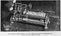 The first fax machine was developed by Alexander Bain in 1843