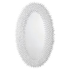 Spore Oval Mirror in Chalk White by ARTERIORS Home