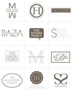 Modern stye family logos