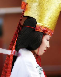 Asia | Portrait of a woman wearing traditional clothes, Jidai Matsuri Festival, Tokyo, Japan