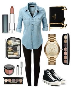 """""""Untitled #542"""" by anke1234 ❤ liked on Polyvore featuring Dorothy Perkins, LE3NO, Converse, Prada, Michael Kors, Marc Jacobs, Bobbi Brown Cosmetics and Maybelline"""