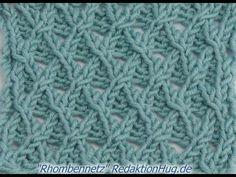 Stricken - Ajourmuster Rhombennetz