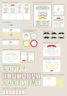 Little Man Partie Kit  Happy Birthday Handsome  by LePartieSugar, $50.00