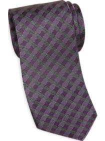 Esquire Purple Check Narrow Tie