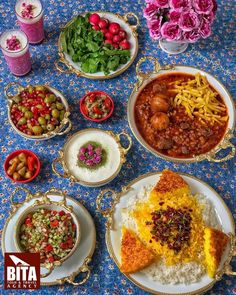 [New] The Best Recipes (with Pictures) These are the 10 best recipes today. According to recipe experts, the 10 all-time best recipes right now are. Iranian Dishes, Iranian Cuisine, Iran Food, Food Platters, Food Decoration, Middle Eastern Recipes, Food Design, Indian Food Recipes, Food And Drink