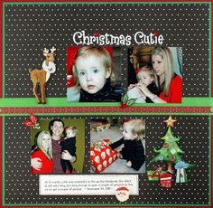 Our Newest Project Ideas: Christmas Cuties Scrapbook Layout Project Idea