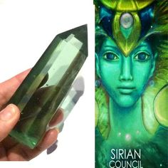 Sirius Andara Crystal Wand With Authenticity Card. Connect To Your Star Family, Receive Healings & Downloads. Starseeds, Reiki, #341B