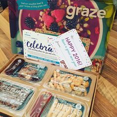 Happy Tuesday!  My graze box came this afternoon, packed with delicious treats to snack on throughout the week!  Grab yours at www.graze.com