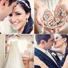 Gorgeous Bride wearing our Swarovski Crystal Ribbon Headband... @Lovella Bridal