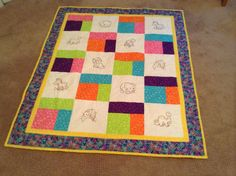 Animal Quilt for a Baby/Toddler by mommomsquilts on Etsy