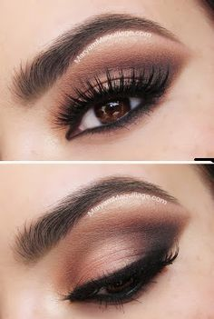 Pics and video tutorial for a brown smokey eye day-to-night look. | best stuff