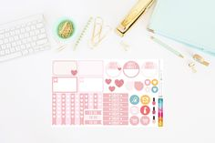 Valentine's Day Planner Stickers (46 Stickers) by TheCleverDesign on Etsy