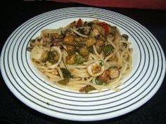 » Spaghetti calamari e zucchine - Ricetta Spaghetti calamari e zucchine di Misya