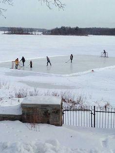 Winter in Canada. A little pond hockey. Winter Magic, Winter Fun, Winter Snow, Winter Time, Snow Scenes, Winter Scenes, Minnesota, Canada Eh, Winter Beauty