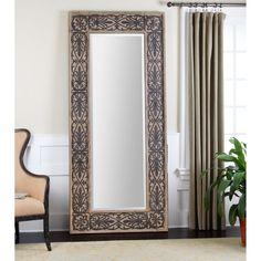 Uttermost Abelardo Wood Frame Leaner Mirror - 40.5W x 87.75H in. - Floor Mirrors at Hayneedle