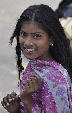 Pretty girl in India