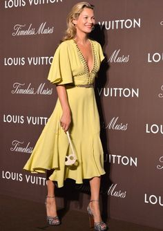 Shoes! Kate Moss at the Louis Vuitton Timeless Muses Exhibition