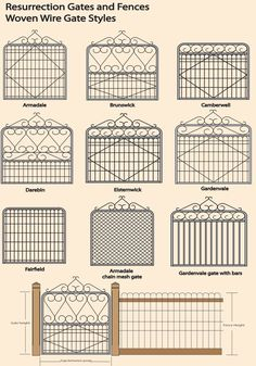 Woven wire gate styles