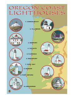 Oregon Coast Lighthouses - seen them all accept Tillamook and soon to fix that! Oregon Vacation, Oregon Road Trip, State Of Oregon, Oregon Trail, Portland Oregon, Oregon Coast Roadtrip, Oregon Hiking, Travel Portland, Newport Oregon