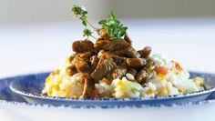 Mashed Potatoes, Rice, Ethnic Recipes, Food, Risotto Recipes, Beef, Food Food, Smash Potatoes, Meals