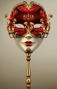 FROG fz LLC - 3D on Behance #simulation #mask #Old #Gold