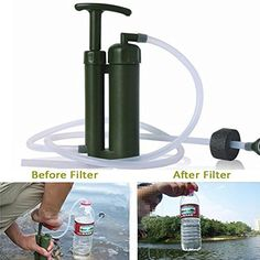 SQdeal® Army Soldier Hiking Camping Survival Emergency Cartridge Water Filter Purifier -- Read more at the image link. (This is an affiliate link) #HydrationandWaterFiltration