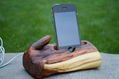 Red cedar Wood iPhone Dock Wooden iPhone Docking Station iPhone Charging station Eco-friendly on Etsy, $169.24 CAD