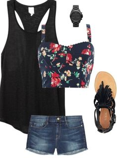 Summer fashion, cute outfit I would ditch the watch though it's to boyish