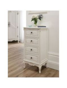 This stunning Baroque Antique French Tallboy Chest available at Baroque Furniture, Antique French Furniture, White Furniture, Shabby Chic Furniture, Bedroom Furniture, Shabby Chic Chest Of Drawers, White Chest Of Drawers, Luxury Decor, Luxury Interior