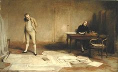 Napoleon Dictating to Count Las Cases the Account of his Campaigns, 1816, by Sir William Quiller Orchardson.
