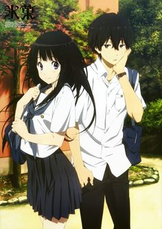 Hyouka - I don't think Oreki was the least bit amused. :)