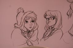 posts from a wannabe animator (amandajozeph: Frozen sketches at D23 by Jin Kim )