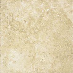 Shop Del Conca Roman Stone Beige Thru Body Porcelain Indoor/Outdoor Floor Tile (Common: 12-in x 12-in; Actual: 11.81-in x 11.81-in) at Lowes.com
