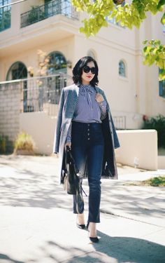Great Weekend: Gray Coat & Cropped Jeans