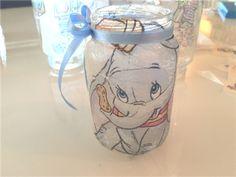 DIY - lage selv telysholdere i dumbo disney. Dumbo Baby Shower, Baby Dumbo, Baby Shower Themes, Shower Ideas, Dumbo Birthday Party, 1st Birthday Party For Girls, Baby Birthday, Dumbo Disney, Baby Disney