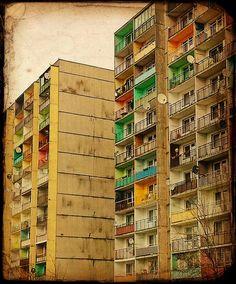 """Blokowisko w Zabrzu, tzw. Panelak, Block of flats, """"panelak"""" by Michał Koralewski on Flickr. Zabrze, Silesia, Polonia. #flats #poland"""