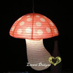 White Dot with Red Mushroom Paper Lanterns [MU-DOT] - $2.70 : Jianoupaperlanterns.com