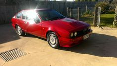 GTV6 Zender kit Fresh red paint sparkling and ready for a drive