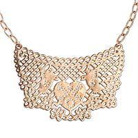Rose gold plated choker, 'Lovebird Melody'