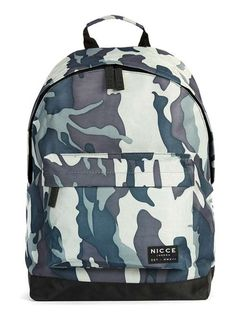 NICCE Blue and Light Khaki Camo Backpack - Men's Branded Accessories - Shoes and…