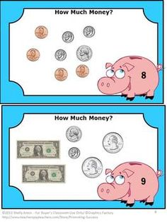 Money Bundle - In this printable math money bundle set, you will receive four of my money teaching resources - 115 pages! This will include over 100 money task cards, cut and paste worksheet activities, quizzes, games, money word problems and more! Use these for extra practice for to reinforce money skills! Teaching Ideas - https://www.teacherspayteachers.com/Product/Money-1052472