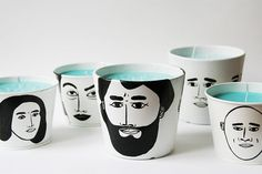 Green tea candle for you by ToddBorka on Etsy, €35.00Personalized candle with faces of your choice.