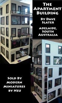 High-rise apartments dollhouse