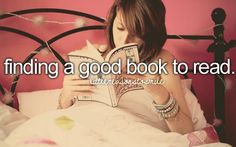 finding a good book to read