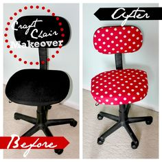 Craft /  Office Chair Makeover - Easy Tutorial by Neverland Nook